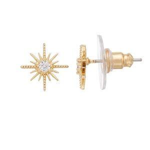 LC Lauren Conrad Art Deco Starburst Stud Earrings